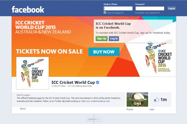 One million Facebook fans and counting - Cricket News