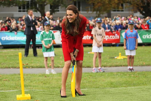 Royal couple picks up bat and ball to celebrate ICC Cricket World Cup - Cricket News