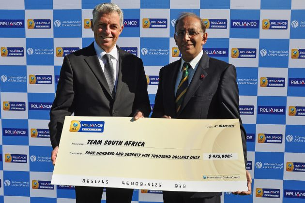 CSA receives US$475,000 for finishing as the number-one ranked Test side  - Cricket News