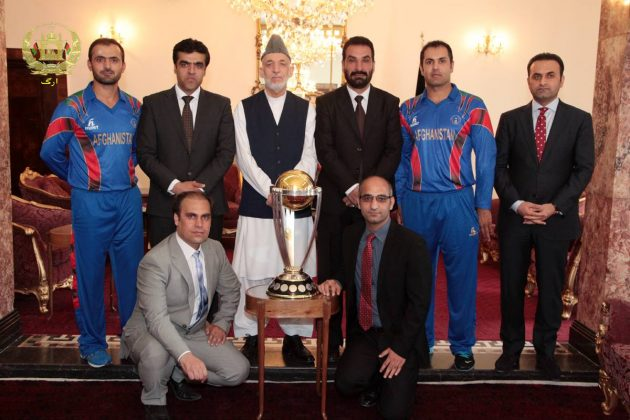 President Karzai hosts ICC Cricket World Cup 2015 trophy in Kabul - Cricket News