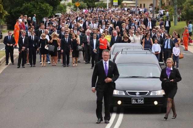 Phillip Hughes Funeral, Macksville, NSW