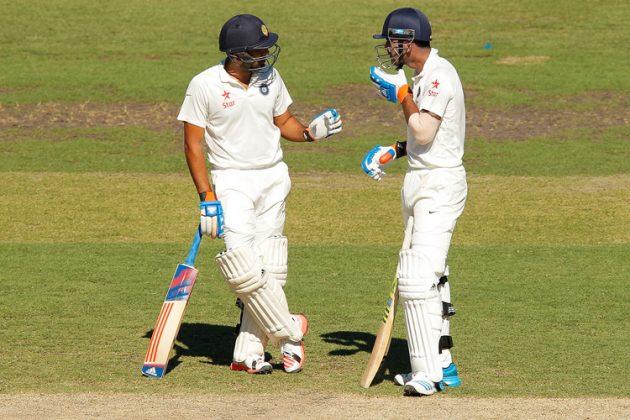 Rahul, Rohit steady India's reply - Cricket News