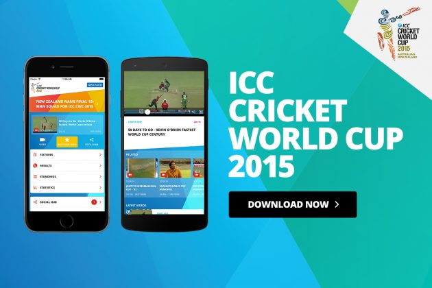 ICC launches official ICC Cricket World Cup 2015 App