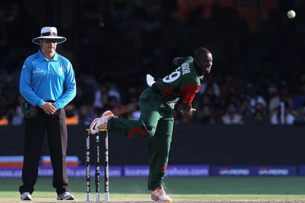 James Ngoche's bowling action found to be illegal  - Cricket News