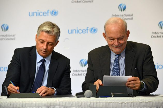 International Cricket Council and UNICEF Unite for Children - Cricket News