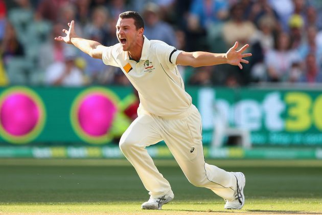 Hazlewood fined 15 per cent for breaching ICC Code of Conduct - Cricket News