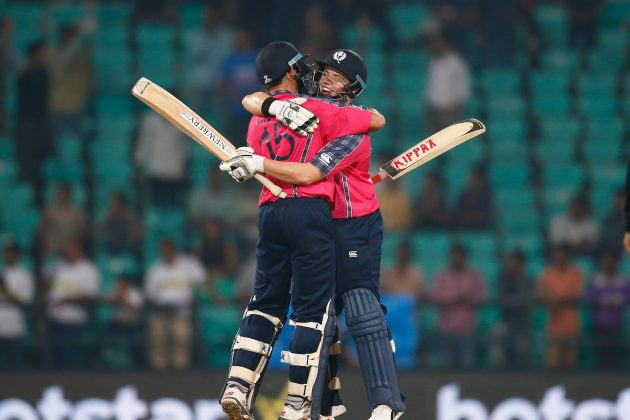 Scotland ends jinx with eight-wicket win