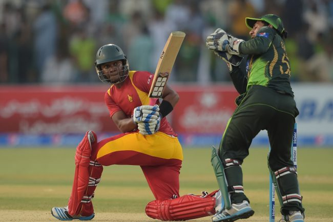 Chamu Chibhabha is caught by Sarfraz Ahmed for 99.