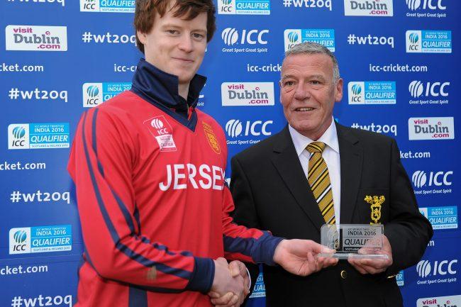 Nat Watkins with his Man of the Match award.