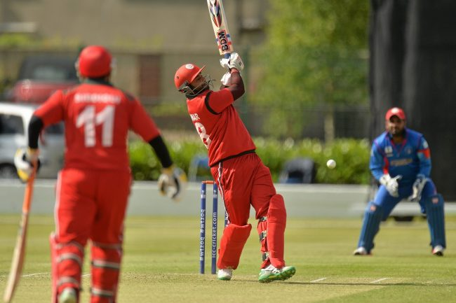 Khawar Ali of Afghanistan in action.