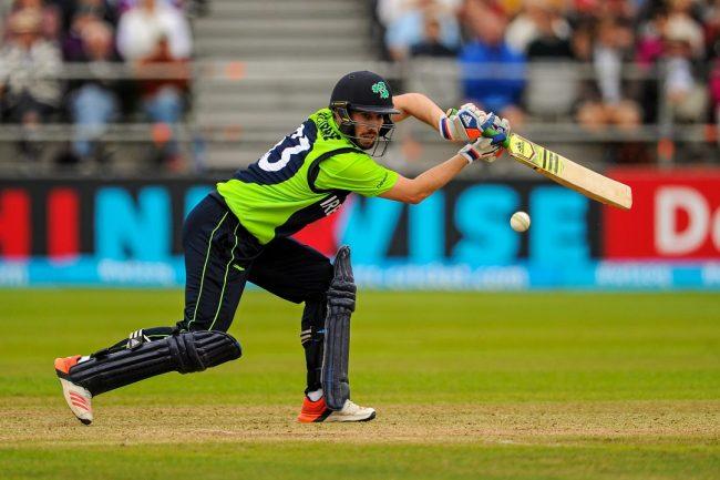 Andrew Balbirnie of Ireland in action.