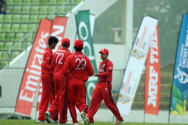 Canada U-19 celebrates a Afghanistan wicket.