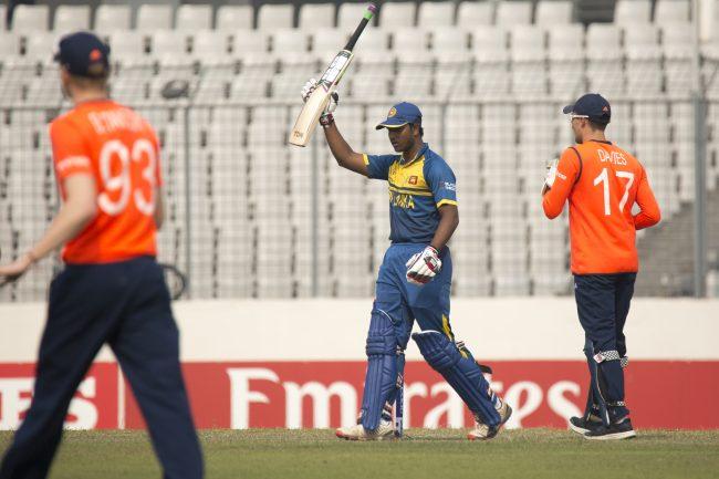 Avishka Fernando celebrates his half century