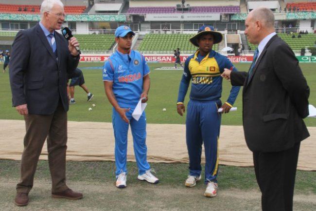 Ishan Kishan and Charith Asalanka during the toss.