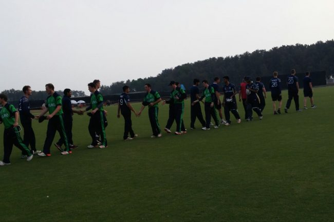 Scotland and Ireland U-19 teams after the match.