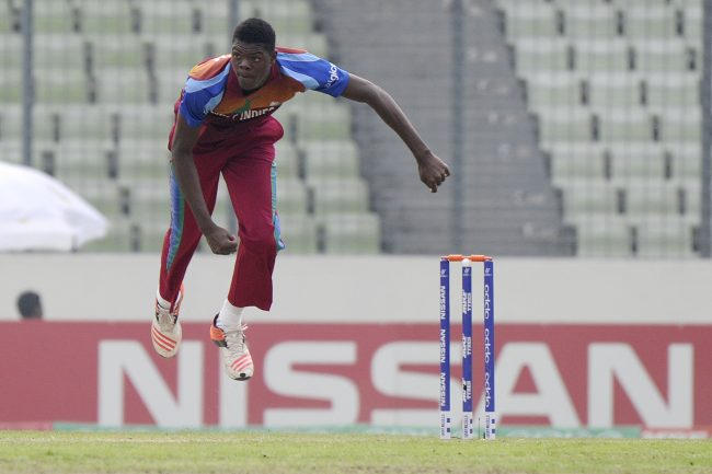 Alzarri Joseph in action.