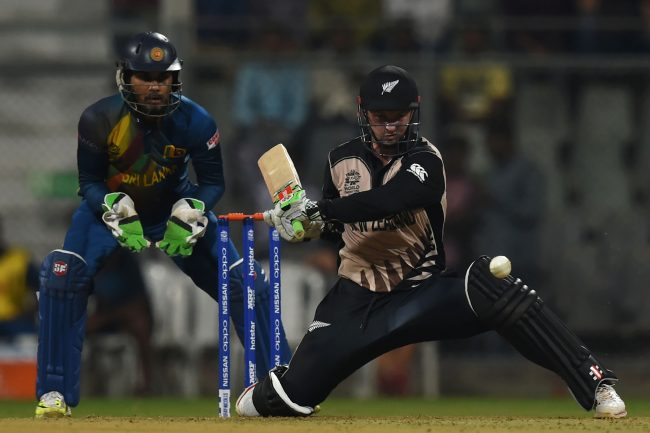 Colin Munro plays a shot.
