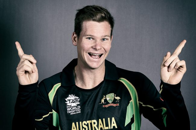 KOLKATA, INDIA - MARCH 12:  (EDITORS NOTE: This Image was processed using digital filters) Steve Smith, Captain of Australia poses during the Australia headshots session ahead of the ICC World Twenty20 tournament on March 12, 2016 in Kolkata, India.  (Photo by Jan Kruger-IDI/IDI via Getty Images)
