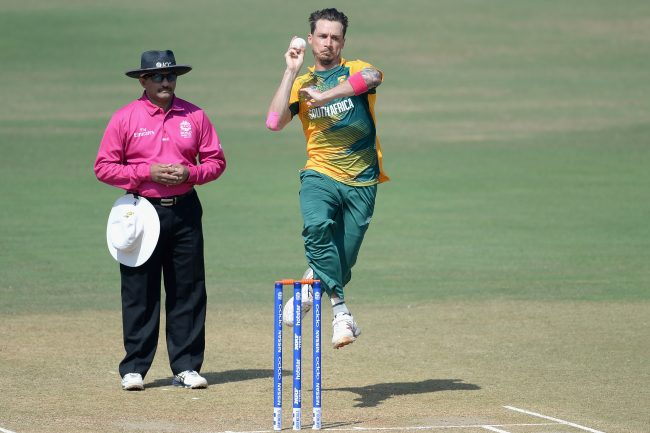 Dale Steyn in action against local team during warm-up match.