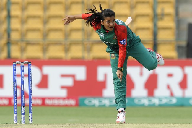 Nahida Akter in action against India women.