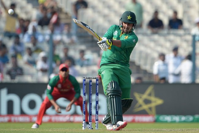 Sharjeel Khan in action against Bangladesh.