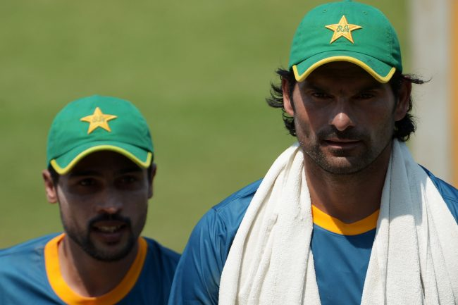 Mohammad Amir and Mohammad Irfan during Pakistan's practice session