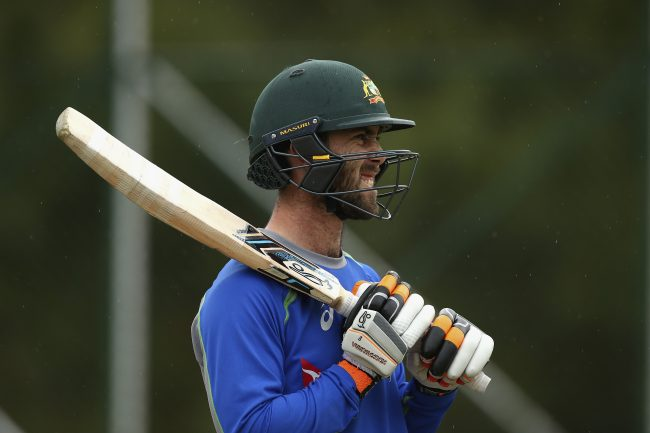 Glenn Maxwell at the training session.