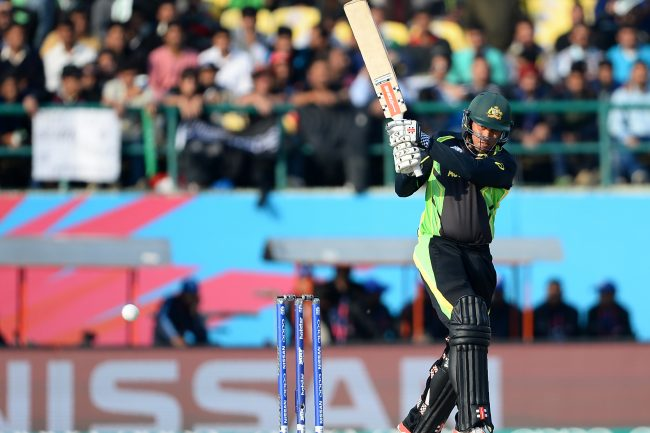Usman Khawaja in action against New Zealand.