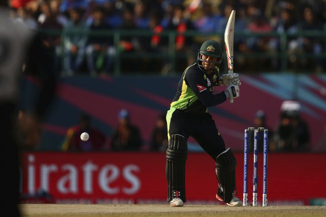 Usman Khawaja hits four against New Zealand.