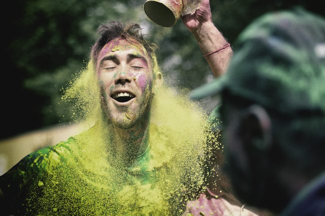 Glenn Maxwell joins in the Holi celebrations