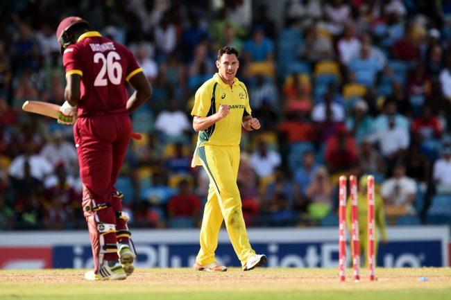 Scott Boland bowled Carlos Brathwaite, who could only manage to score 7 runs