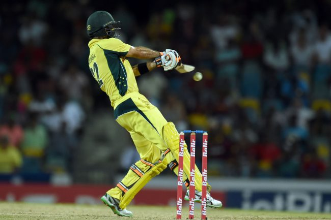 Glenn Maxwell playing a ramp shot