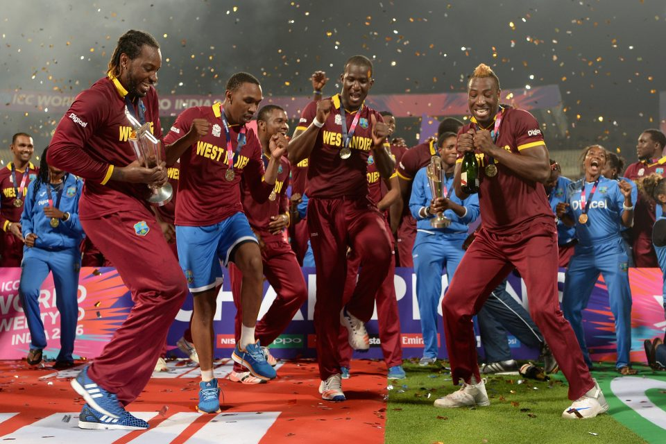 WI players dance